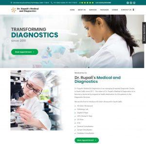 Website Designing of Dr Rupali's MEdical and Diagnostics by Crisp Multimedia Solutions Pvt. Ltd.